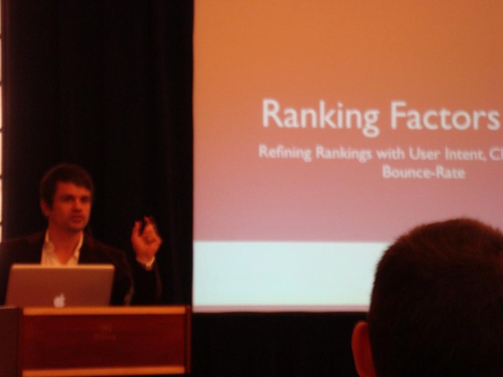 emetrics smx Marcus Tandler présentation des indicateurs de classement SEO en 2011