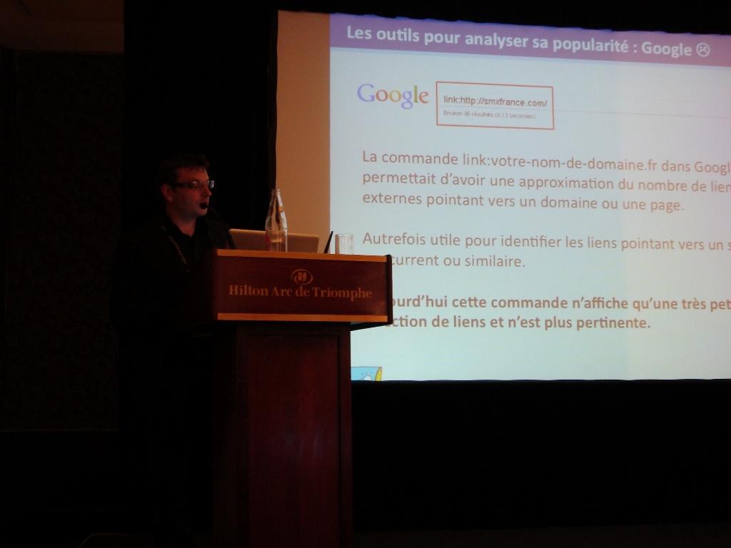 eMetrics & SMX Paris 2010 : David Degrelle présente les outils du  linkbuilding
