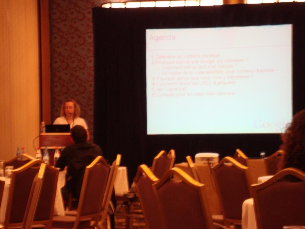 eMetrics & SMX Paris 2010 : Susan Moskwa de Google présente le contenu dupliqué